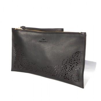 Floriana Nova zip clutch - black