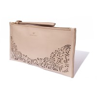 Floriana Nova zip clutch - soft blush